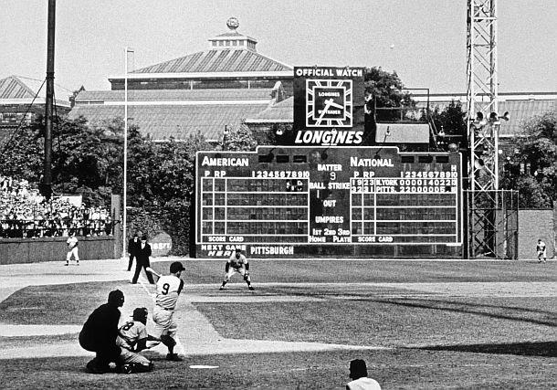 Image result for bill mazeroski hitting home run