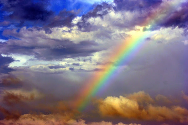 Rainbow: After the storm over the Texas Gulf Coast there was a rainbow.