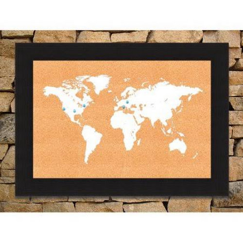Google express hadley house co world map wall mounted bulletin hadley house co world map wall mounted bulletin board white gumiabroncs Gallery