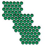 Swarovski Crystal, Round Flatback Rhinestone Hotfix SS16 3.8mm, 50 Pieces, Emerald