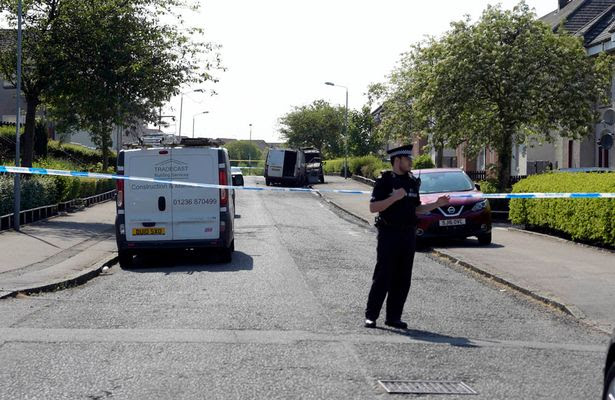 Two vans are recovered at the scene, reportedly in Frankfield Road, in the Stepps area of Glasgow