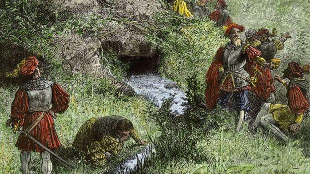 Pintura romántica del siglo XIX autor desconocido.