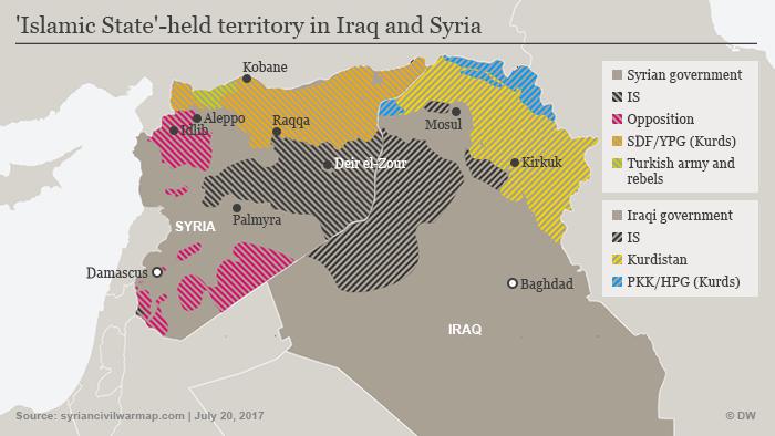 Infografik Karte IS kontrollierte Gebiete Syrien Irak NEU! ENG