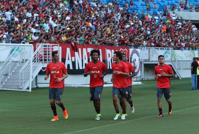 Flamengo treino Arena das Dunas (Foto: Alexandre Lago/GloboEsporte.com)