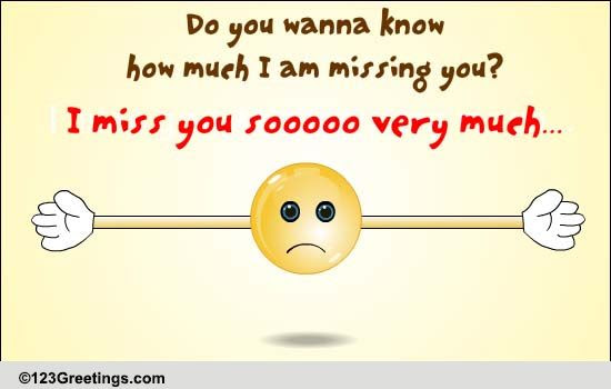 Miss You So Much Free Miss You Ecards Greeting Cards 123 Greetings