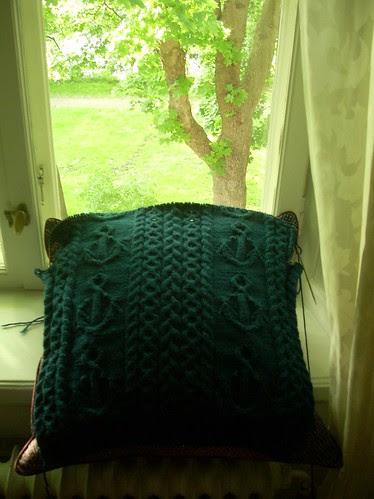 """Mystic"" sweater in progress by Asplund"