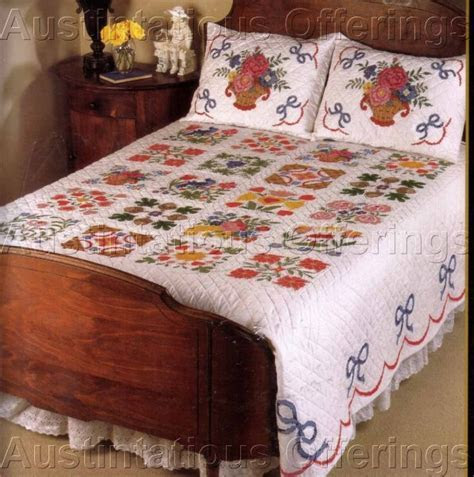 STAMPED CROSS STITCH BALTIMORE ALBUM FULL / QUEEN SIZE QUILT