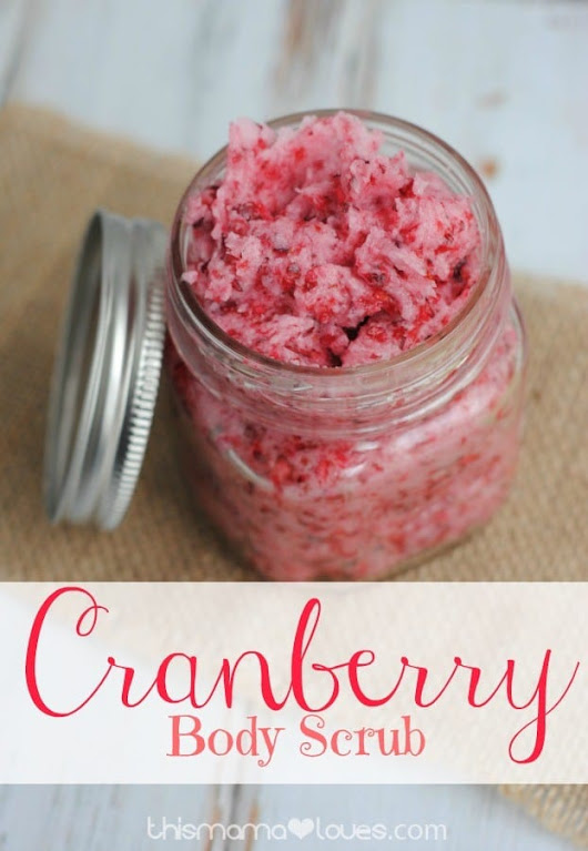 DIY Cranberry Body Scrub