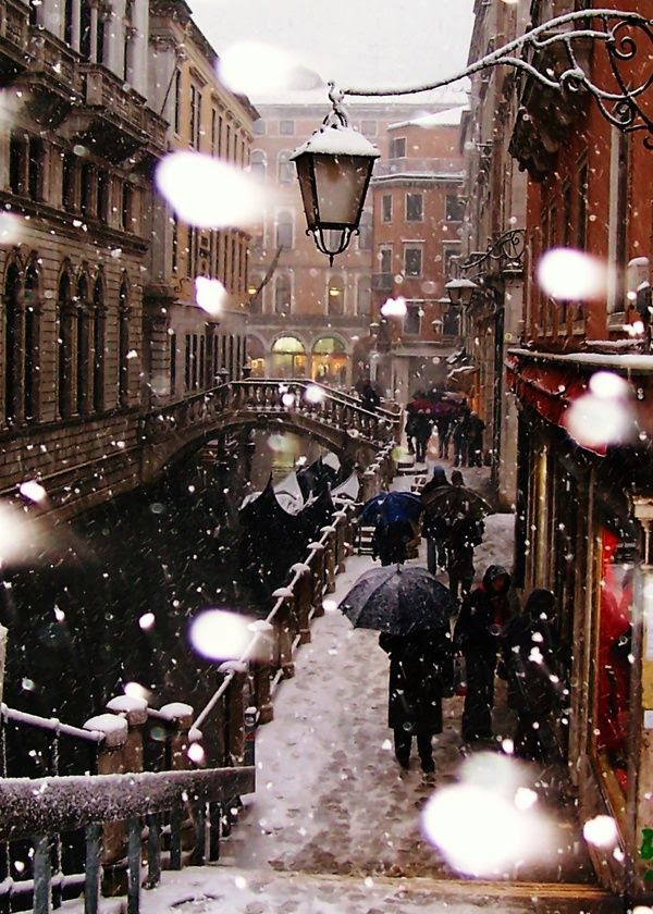 Venice in winter.