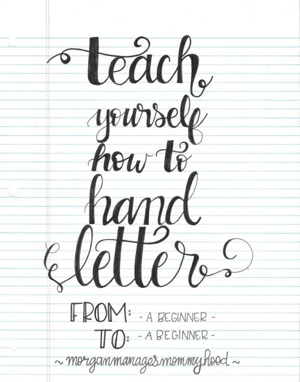 Download Teach Yourself How to Hand Letter - Morgan Manages Mommyhood