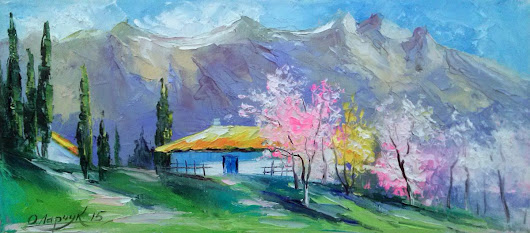 Spring in the Crimea (2015) Oil painting by Olha Darchuk