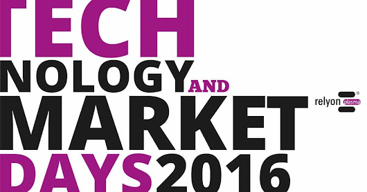 Technology And Market Days 2016 · Get Together · Relyon Plasma