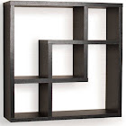 Geometric Square Wall Shelf with 5 Openings, Danya B