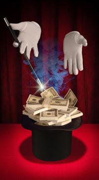 Игровой автомат Магия Денег (Magic Money) бесплатно предлагает помощь высших сил: колдунов, ведьм, их магических атрибутов и помощников! На барабанах этого слота вы увидите симпатичную волшебницу и ее магический шар, старого колдуна и мудрую полярную сову, таинственный ларец.