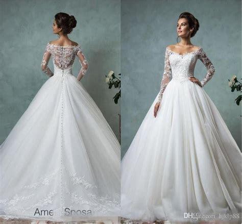 Amelia Sposa Long Sleeves Wedding Dresses Lace Bridal