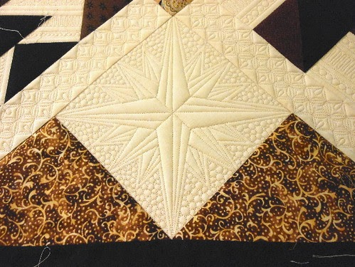 Green Fairy Quilts Directional Compass Quilting Block