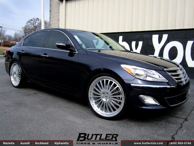 Hyundai Genesis With 22in Tsw Silverstone Wheels Exclusively From Butler Tires And Wheels In