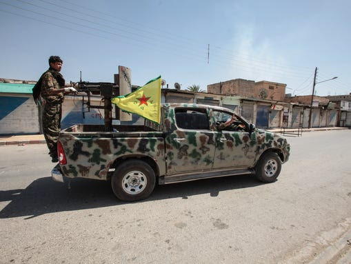Kurdish People's Protection Units, or YPG, fighters