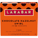 Larabar Chocolate Hazelnut Swirl Fruit & Nut Bars 5 Count