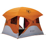 """Gazelle T4 94"""" x 94"""" 4 Person Pop Up Camping Hub Tent with Removable Floor & Fly by VM Express"""