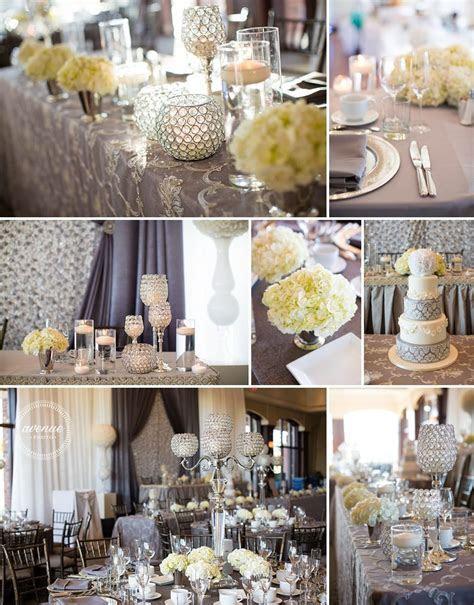 Cream, silver and grey wedding decor Avenue Photo venue