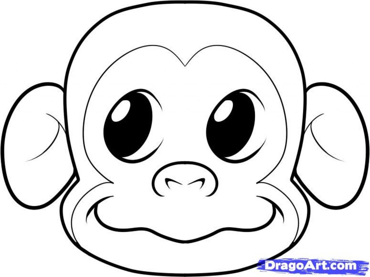 Easy Gorilla Drawing at GetDrawings | Free download
