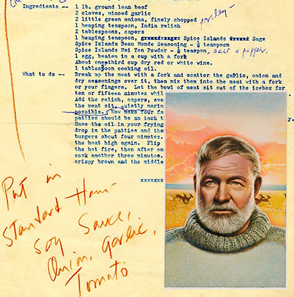 from Ernest Hemingway's Guide to Cookery - For What It's Worth – a literary site