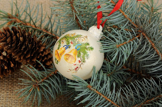 Handmade decoration on the tree Bell New Year's present Christmas decoration 338029327: Christmas tree decorations Buy handmade goods / MADE ❤