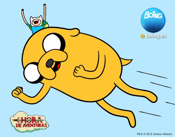 Dibujo De Jake El Perro Volador Pintado Por Felipito En Dibujosnet