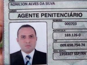 Agente penitenciário Ronilson Alves da Silva (Foto: Marcelino Neto)