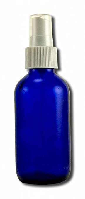 Blue Glass Bottle with Spray 4 oz Unit