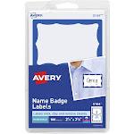 "Avery Name Badge Labels, Blue Border, 2-11/32"" x 3-3/8"", 100 Badges (5144)"