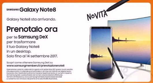 Promo Hints At Galaxy Note 8's DeX Support & EU Release Date | Androidheadlines.com