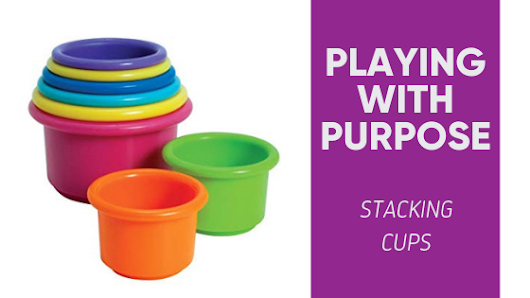 Playing With Purpose: Stacking Cups • Tandem Speech Therapy