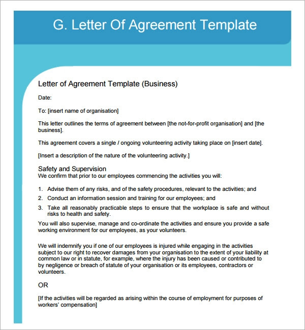90 Info Example Of A Agreement Letter 2019