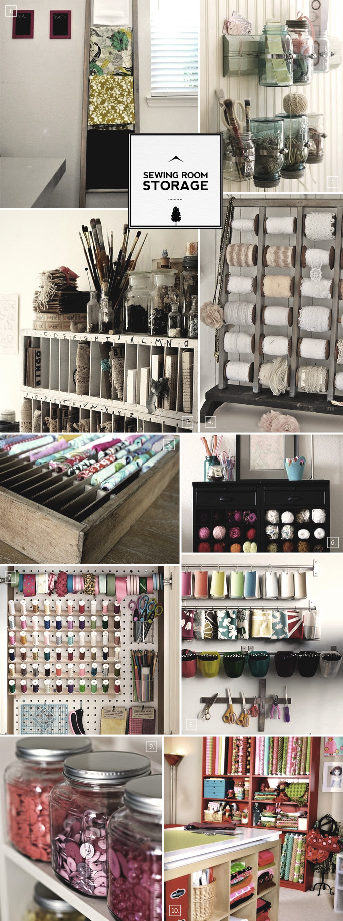 Sewing Room Organization Ideas: From Storage to Display ...