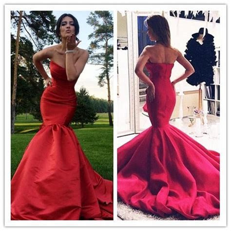 Elegant Evening Dresses Real Image 2016 Cheap Red Sexy
