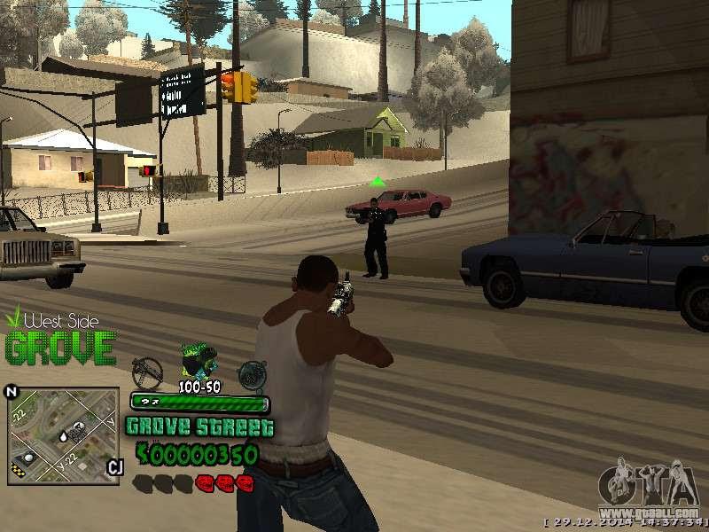 C Hud Grove Street For Gta San Andreas
