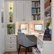 Painted Maple Corner Office - contemporary - home office - new york - by transFORM | The Art of Custom Storage