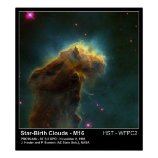 Star Birth Cloud M16 Hubble Telescope Photo print