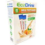Multivitamin & Minerals Drink Mix By Eco Drink - 30 Orange Packets