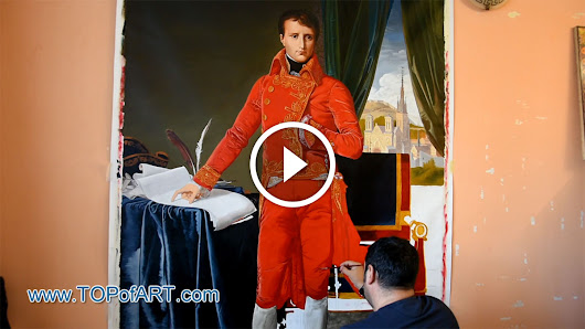 Ingres - Napoleon as First Consul - Fine Art Painting Reproduction Video by TOPofART.com