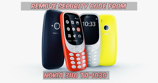 Nokia 3310 TA-1030 Security Code Remove
