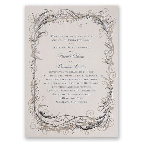 Vintage Shine Invitation   Invitations By Dawn