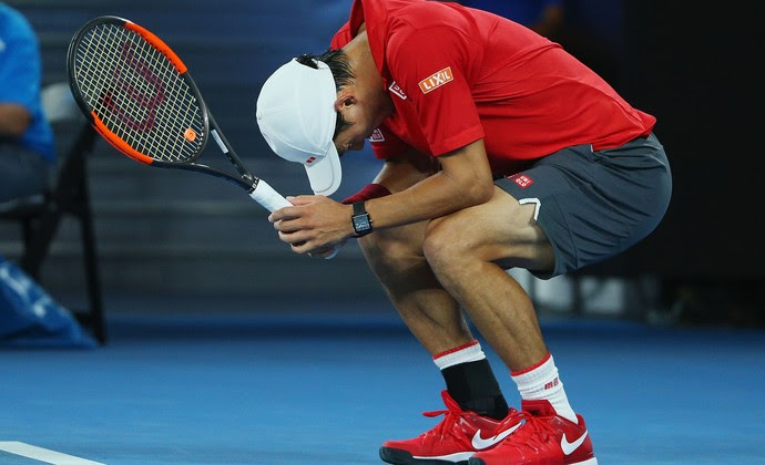 Kei Nishikori Aberto da Austrália tênis Roger Federer (Foto: Michael Dodge/Getty Images)