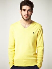 Polo Ralph Lauren Slim Fit Pima Cotton V Neck Jumper