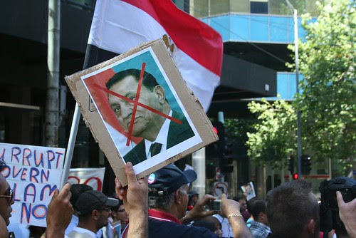 Mubarak out - Egypt Uprising solidarity Melbourne protest