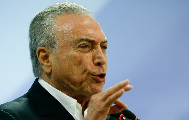 O presidente Michel Temer, em pronunciamento em Brasília