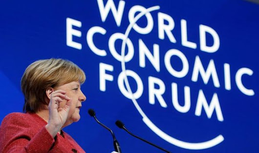 'Financial system DAMAGED significantly' Angela Merkel in stark warning at Davos 2019
