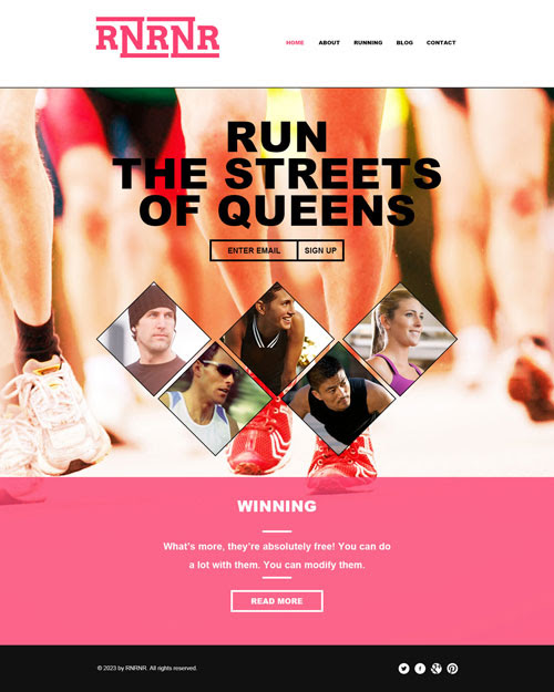 Ready - Running Website Template | Free Website Templates